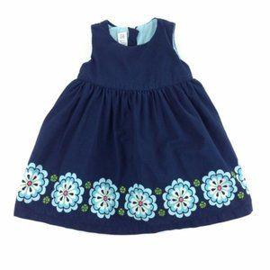 BabyGap Navy Sleeveless Lined Geo Print Dress